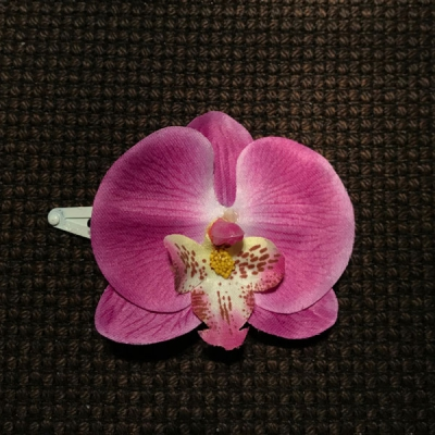 Orchid hair flower in the group Women / Hair flowers at Sivletto - Skylark AB (A1001)