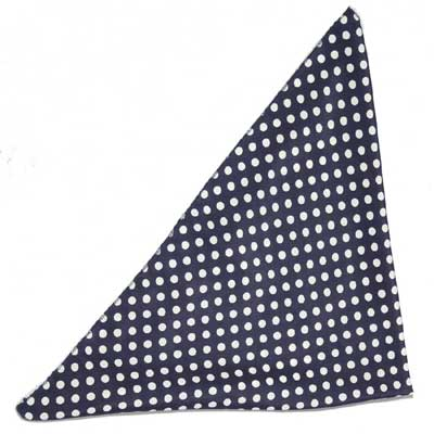 Collectif Polka dot chiffon bandana navy in the group Women / Accessories at Sivletto - Skylark AB (AW131303-N)
