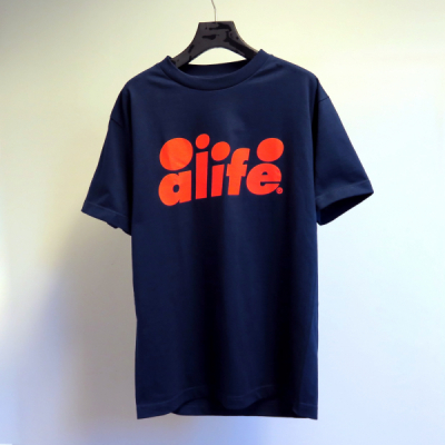 Alife Bubble Logo Tee Navy in the group Clothes / T-shirts at Sivletto - Skylark AB (Alife-40401)