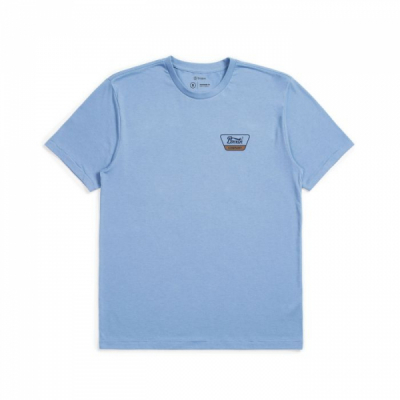 Brixton Linwood Standard Tee Slate in the group Men / T-shirts at Sivletto - Skylark AB (BR-16172-SLATE)