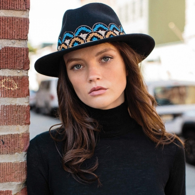 Brixton Fiona Fedora Black in the group Sale! / Women / Misc at Sivletto - Skylark AB (BRIXTON-00733)