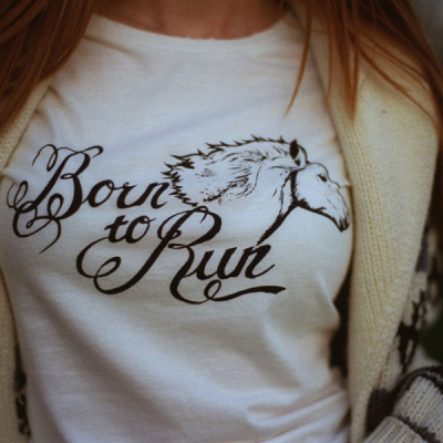 Bandit Brand Born to Run Womens Tee in the group Women / Blouses, tops & t-shirts at Sivletto - Skylark AB (Bb2)