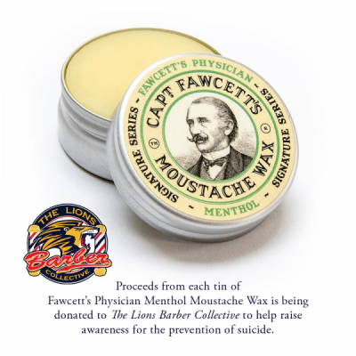 Captain Fawcett's Physician Menthol Moustache Wax in the group Hair and skincare / Mustache and beard / Mustache Wax at Sivletto - Skylark AB (CFA-073)