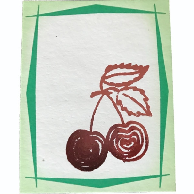 Cherry Notecard in the group Home and stuff / Office and stationary at Sivletto - Skylark AB (CN1)