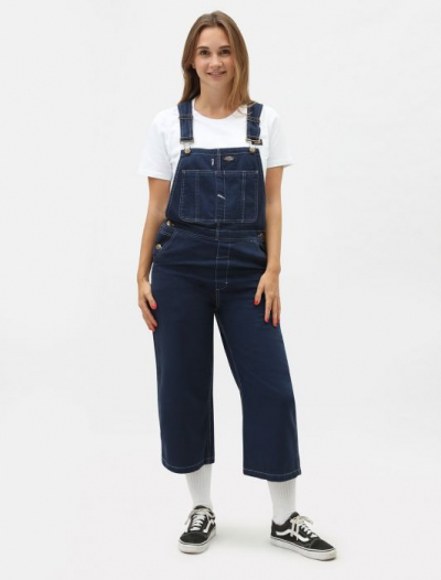 Dickies Uvalda Women's Regular Fit Bib Deep Blue in the group Sale! / Women / Pants at Sivletto - Skylark AB (DK0A4TMKEL)