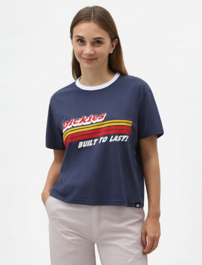 Dickies Cadwell Women's Cropped T-shirt Navy in the group Clearance / Women / Tops, jackets etc at Sivletto - Skylark AB (DK0A4TN4NVX)