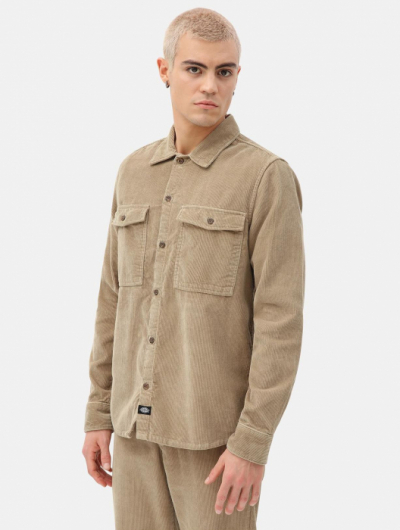 Dickies Fort Polk Shirt Khaki in the group Clothes / Shirts at Sivletto - Skylark AB (DK0A4X5WKHK1)