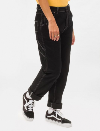 Dickies Womens Park City Carpenter Pant in the group Sale! / Women / Pants at Sivletto - Skylark AB (DK133004BLK)