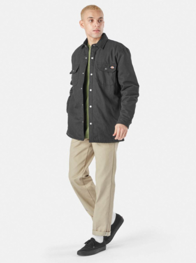 Dickies Lined Duck Shirt Jack Relaxed Black in the group Men / Jackets and coats at Sivletto - Skylark AB (DKOA4XBR-BLK)