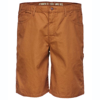 Dickies Duck carpenter short rinsed brown in the group Sale! / Men / Trousers at Sivletto - Skylark AB (DX250RBD)