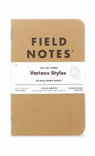 Field Notes Mixed 3-pack in the group Home and stuff / Office and stationary at Sivletto - Skylark AB (FN-04)