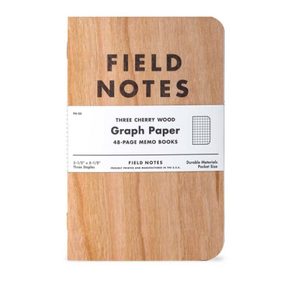 Field Notes Cherry Graph 3-pack in the group Stuff / Home / Office and stationary at Sivletto - Skylark AB (FN-23)