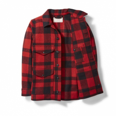Filson Mackinaw Wool Cruiser Jacket Red Black Plaid in the group Men / Jackets and coats at Sivletto - Skylark AB (Filson-11010043)