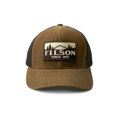 Filson Logger Mesh Cap Dark Tan in the group Men / Headwear / Trucker/baseball caps at Sivletto - Skylark AB (Filson-11030237-darktan)