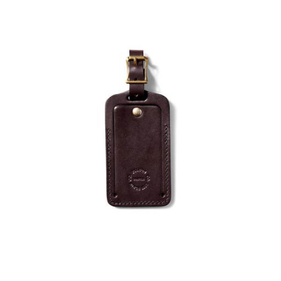 Filson Bridle Leather Luggage Tag Brown in the group Card Holders at Sivletto - Skylark AB (Filson-20018729-brown)