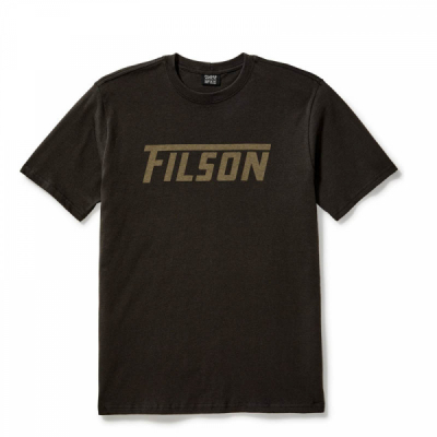 Filson Outfitter Graphic T-shirt Faded Black in the group Men / T-shirts at Sivletto - Skylark AB (Filson-20075678)