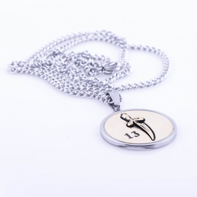 Jernhest Rio Silver Necklace in the group Men / Accessories at Sivletto - Skylark AB (HRo16200-OS)