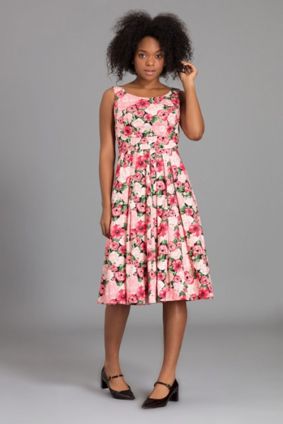 Emily and Fin Isobel Pink Floral Dress Paris Rose Garden in the group Clearance / Women / Dresses at Sivletto - Skylark AB (ISD0186CP)