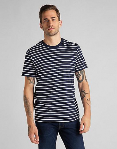 Lee Stripe Tee Navy in the group Clothes / T-shirts at Sivletto - Skylark AB (L63HJO35)