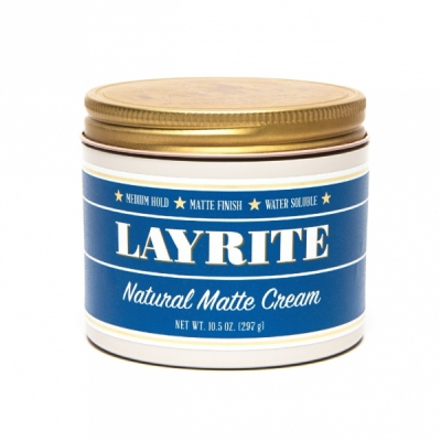 Layrite Natural Matte Cream XL in the group Hair and skincare / Pomade at Sivletto - Skylark AB (LAY-027)