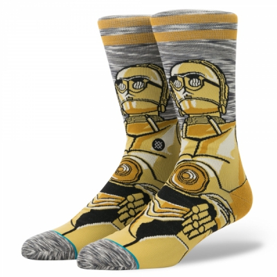 Stance Star Wars Android Socks in the group Men / Undergarments / Socks at Sivletto - Skylark AB (M545D17AND-GRY)