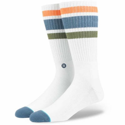 Stance Pipebomb Downhill White in the group Men / Undergarments / Socks at Sivletto - Skylark AB (M656A18DOW)