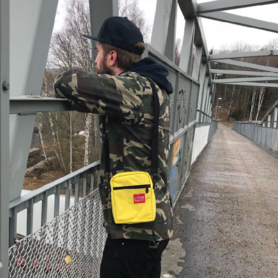 Manhattan Portage City Lights Bag Yellow in the group Men / Accessories / Bags at Sivletto - Skylark AB (MP-1403-YEL)