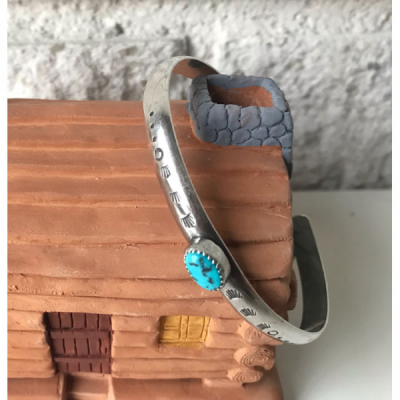 MoonPi Stacking cuff turquoise/silver in the group Women / Jewelry at Sivletto - Skylark AB (MP3)