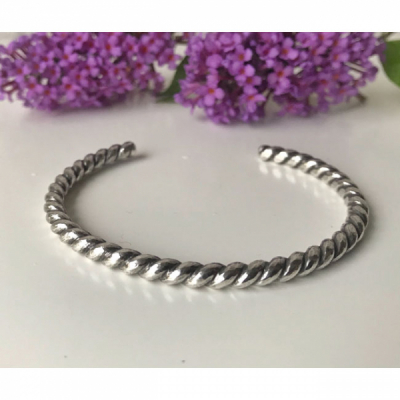 MoonPi Rope Silver cuff in the group Women / Jewelry at Sivletto - Skylark AB (Mp7)