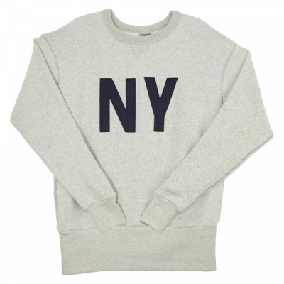 Ebbets Field New York Gothams Crewneck Sweatshirt Heather Gray in the group Men / Sweaters at Sivletto - Skylark AB (NYGCS)