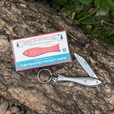 Fish shaped pocket knife & keyring in the group Campaign / Xmas Gifts under 100 SEK at Sivletto - Skylark AB (R-28127)