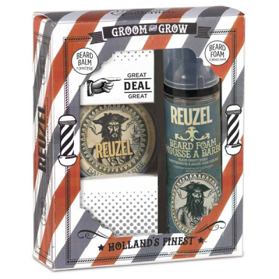 Reuzel groom & grow beard duo gift pack in the group Hair and skincare / Mustache and beard / Beard oil at Sivletto - Skylark AB (REU559)