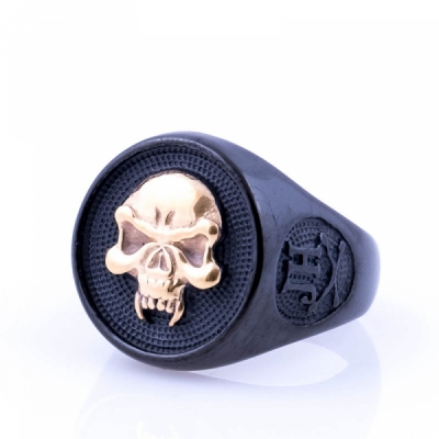 Jernhest Simon Black Ring in the group Men / Accessories at Sivletto (RSn17299)