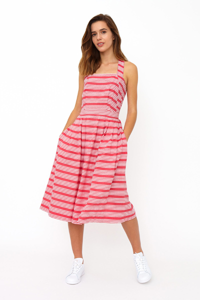 Emily and Fin Romy cross back sun dress beachcomber stripe in the group Women / Dresses at Sivletto - Skylark AB (Rmd-0309)