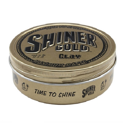 Shiner Gold Clay Pomade in the group Hair and skincare / Pomade / Water soluble pomade at Sivletto - Skylark AB (SHI-008)