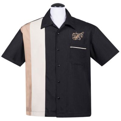 Steady Stay tuned guitar button up shirt in the group Men / Shirts, short sleeve at Sivletto - Skylark AB (ST35617)