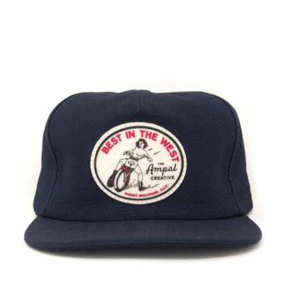 Ampal Creative Best in the West Strapback Navy in the group Men / Headwear / Trucker/baseball caps at Sivletto - Skylark AB (TAC-S110)