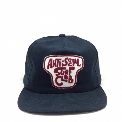Ampal Creative Anti-social Surf Club Strapback Navy in the group Men / Headwear / Trucker/baseball caps at Sivletto - Skylark AB (TACS-S62)