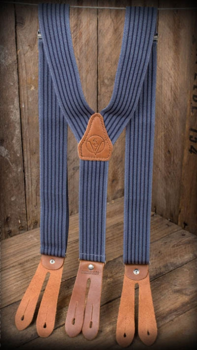 Rumble 59 Suspender Blue in the group Men / Suspenders, belts etc at Sivletto - Skylark AB (W11278)
