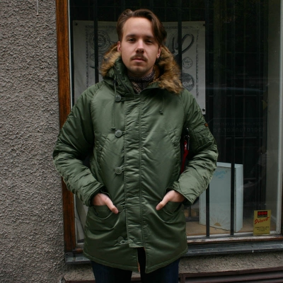 Alpha Industries Inc. N-3B Sage Green Jacket in the group Men / Jackets and coats at Sivletto (W2767)