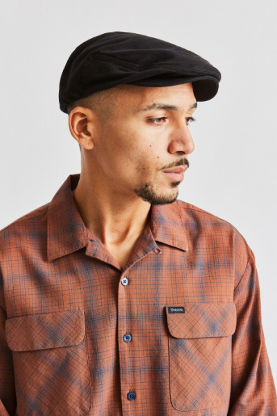 Brixton Hooligan Black Herringbone Twill in the group Sale! / Men / Headwear at Sivletto - Skylark AB (W3249)