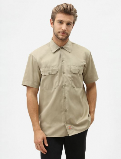 Dickies Shortsleeved work shirt khaki in the group Men / Shirts, short sleeve at Sivletto (W579)