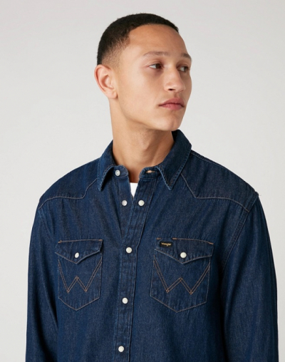 Wrangler Icons 27MW Shirt in the group Denim / Shirts at Sivletto - Skylark AB (W5MSLW30100)