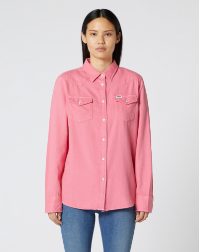 Wrangler Jeanies Shirt Bubblegum Pink in the group Women / Blouses, tops & t-shirts at Sivletto - Skylark AB (W5Q18UP09)