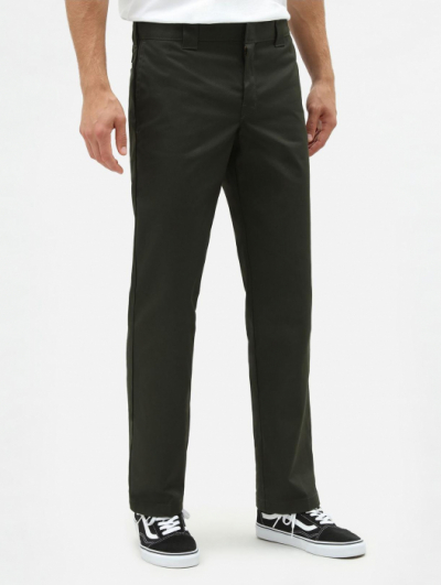 Dickies 873 Slim Straight Olive Green Work Pant   in the group Men / Mens Pants at Sivletto - Skylark AB (W9141)