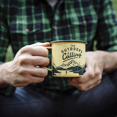 Gentlemen's Hardware Enamel Mug Outdoors Yellow in the group Campaign / Gift guide outdoors at Sivletto - Skylark AB (WAWGH321)