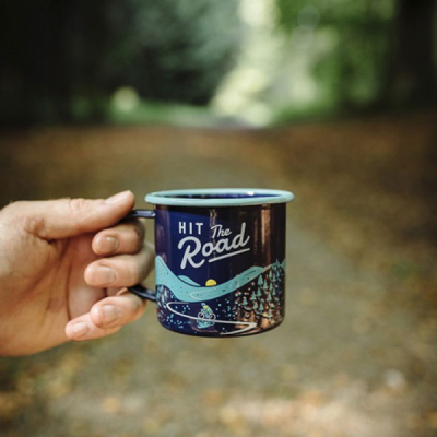 Gentlemen's Hardware Enamel Mug Hit The Road Blue in the group Campaign / Gift guide outdoors at Sivletto - Skylark AB (WAWGH322)