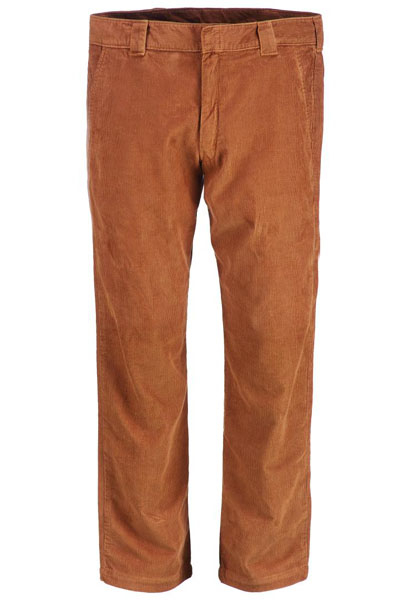 Dickies 873 Slim Straight Work Pant Cord Brown duck in the group Sale! / Men / Trousers at Sivletto - Skylark AB (WP873CBD)