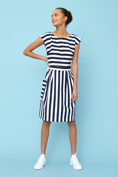 Emily and Fin Zoe dress nautical stripe in the group Women / Dresses at Sivletto - Skylark AB (Zod-0301)