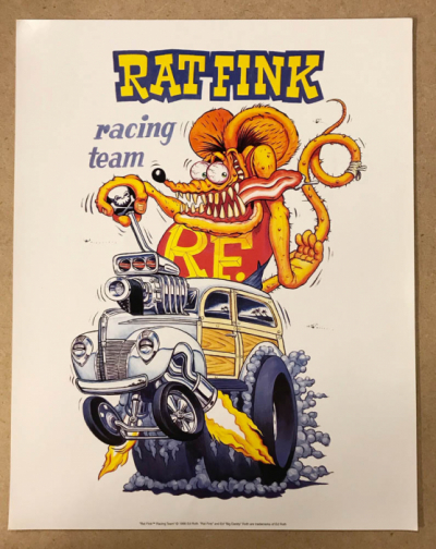 Ed Roth Rat Fink Racing Team poster in the group Home and stuff / Home Decor at Sivletto - Skylark AB (edroth-racingteam)